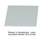 "Bon Chef 960112P 1/2-Size Tile Tray, 13.5 x 14.25""., Aluminum/Pewter-Glo"