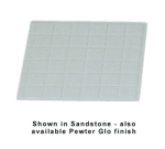 "Bon Chef 960112SBLK 1/2-Size Tile Tray, 13.5 x 14.25""., Aluminum/Black"