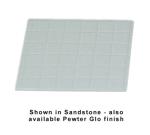 "Bon Chef 960112SWH 1/2-Size Tile Tray, 13.5 x 14.25""., Aluminum/White"