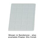 "Bon Chef 960113SWH 1/3-Size Tile Tray, 13.5 x 9-7/16""., Aluminum/White"