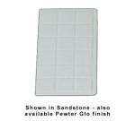 "Bon Chef 960114SBLK 1/4-Size Tile Tray, 13.5 x 7-1/16""., Aluminum/Black"