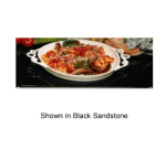 """Bon Chef 96052108S BLK 27"""" Double Size Tile Tray for 2108, Aluminum/Black"""