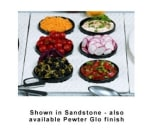 Bon Chef 963069202S WH Single Size Tile Tray For (6) 9202, Aluminum/White