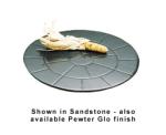 """Bon Chef 9650S WH 15.5"""" Round Tile, Aluminum/White"""