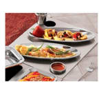 Bon Chef 966252 Custom Cut Tile Tray w/  Cutouts for (2) 5218 & (2) 5225, Stainless