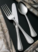 Bon Chef SBS404S Euro Dinner Fork, Amore, Silverplated