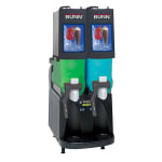 Bunn ULTRA-2PAF-0504 Frozen Drink Machine, (2) 2-gal Hoppers & Touchpad Display, Stainless, Black (34000.0504)
