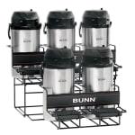 Bunn UNIV-5-0004 UNIV-5 APR Universal Airpot Rack, For 5 Airpots, Holds 3 Upper/2 Lower (35728.0004)