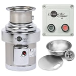 InSinkErator SS-200-12A-MS Complete Disposer Package, 2 HP, 12 in Bowl with Cover, 208V/1PH