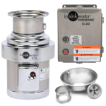 InSinkErator SS-200-18B-CC202 115 Disposer Pack, 18 in Bowl, Sleeve Guard, CC202 Panel, 2 HP, 115/1V