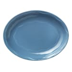 "Syracuse China 903032001 Oval Platter, Cantina Carved Pattern & Shape, Flint, 13.62x10.62"", Blueberry"