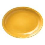 "Syracuse China 903033008 Oval Platter, Cantina Carved Pattern & Shape, Flint, 11.62x9.25"", Saffron"