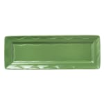 "Syracuse China 903035117 Rectangular Cantina Tray - 12.75"" x 4.5"", Porcelain, Sage"