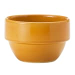 Syracuse China 903044370 8 oz Stackable Bouillon w/ Studio Pattern & Body, Saffron