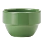 Syracuse China 903046370 8-oz Stackable Bouillon w/ Studio Pattern & Body, Sage
