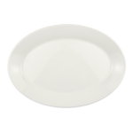Syracuse China 905356822 Oval Wide Rimmed Platter w/ Slenda Pattern & Shape, Royal Rideau, 11.62x1.25""