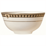 Syracuse China 911191014 9.75-oz Fruit Soup Bowl, Baroque Pattern & International Shape, Bone China Body