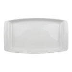 "Syracuse China 911194491 13.25"" Handled Platter w/ Reflections Pattern & Shape, Alumawhite Body"