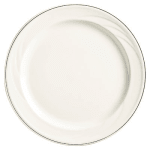 "Syracuse China 927659367 12 1/4"" Royal Rideau Plate - Round, White"