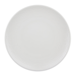 "Syracuse China 935550102 11"" Round China Plate - Coupe, Embossed Rim, Porcelain, Atherton, White"