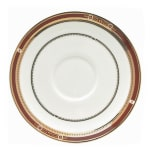 "Syracuse China 954321017 5"" Barrymore A.D. Saucer - Round, Glazed, White"