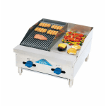 "Comstock-Castle FHP24-12-1RB 24"" Radiant Charbroiler & Griddle w/ 3/4"" Steel Plate, LP"
