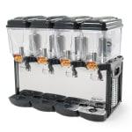 Eurodib CD4J Cofrimell Juice Dispenser w/ (4) 3.2-Gallon Polycarbonate Tank