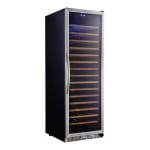 "Eurodib USF168S 24"" One Section Wine Cooler w/ (1) Zone, 165 Bottle Capacity, 110v"
