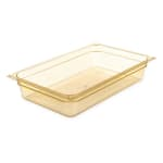 "Carlisle 10401B13 StorPlus High Heat Food Pan - Full Size, 4""D, Amber"