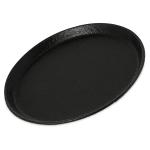 "Carlisle 1100GR2004 11"" Round Griptite™ 2 Serving Tray, Black"