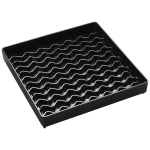 "Carlisle 1102603 6"" Square Drip Tray - Black"
