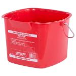 Carlisle 1183005 8-qt Square Sanitizing Pail - Red