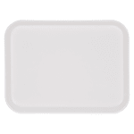 "Carlisle 1410FG001 Rectangular Cafeteria Tray - 13-3/4x10-5/8"" Bone White"