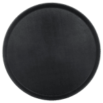 "Carlisle 1600GL004 16-7/16"" Round Serving Tray - Black"