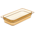 "Carlisle 3086013 StorPlus High Heat Food Pan - 1/3 Size, 2.5""D, Amber"