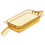 "Carlisle 30860HH13 StorPlus High Heat Food Pan w/ Handles - 1/3 Size, 2.5""D, Amber"