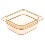"Carlisle 3088113 StorPlus High Heat Food Pan - 1/4 Size, 4""D, Amber"
