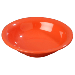 Carlisle 3303252 16-oz Sierrus Rimmed Bowl - Melamine, Sunset Orange