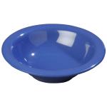 Carlisle 3303614 12-oz Sierrus Rimmed Bowl - Melamine, Ocean Blue