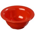Carlisle 3303805 10-oz Sierrus Rimmed Nappie Bowl - Melamine, Red
