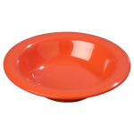 Carlisle 3304052 6 oz Sierrus Rimmed Bowl - Melamine, Sunset Orange