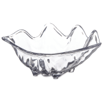 "Carlisle 33907 12-oz Buffet Clam Shell - 8-7/8x5-1/2"" Clear"