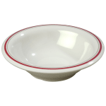 "Carlisle 43037903 7.25"" Round Rim Soup Bowl w/ 12 oz Capacity, Melamine, Morocco on Bone"