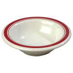 "Carlisle 43043907 4.75"" Round Fruit Bowl w/ 4.5-oz Capacity, Melamine, Roma on Bone"