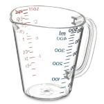 Carlisle 4314207 16-oz Oval Measuring Cup w/ Pour Spout & C-Handle, Polycarbonate, Clear