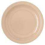 "Carlisle 4350425 6.5"" Round Pie Plate w/ Reinforced Rim, Melamine, Tan"