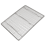 "Carlisle 601642 Icing Grate for Half Size Sheet Pans, 17"" x 11"", Chrome Plated"