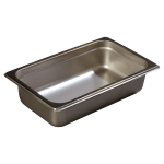 Carlisle 608142 Fourth-Size Steam Pan, Stainless