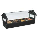 Carlisle 660103 Table Top Food Bar - (5)Full-Size Pan Capacity, Polyethylene, Black