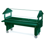 Carlisle 660808 Youth Portable Food Bar - (5)Full-Size Pan Capacity, Polyethylene, Forest Green
